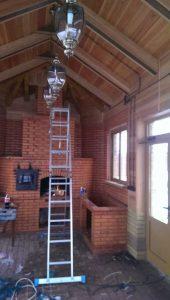 Установка освещение в доме