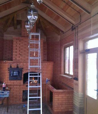 Результат монтажа освещения в загородном доме от компании ЛюксЭнергоСервис