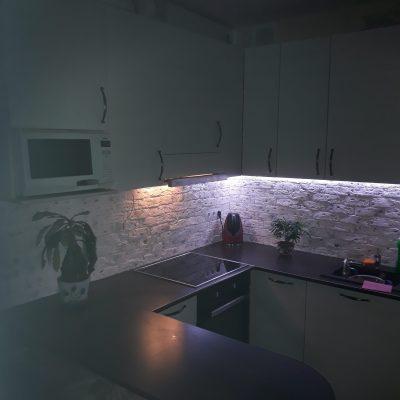 Результат монтажа подсветки на кухне от компании ЛюксЭнергоСервис